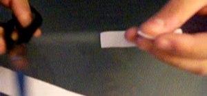 Make a paper bolt for a crossbow or dartcaster
