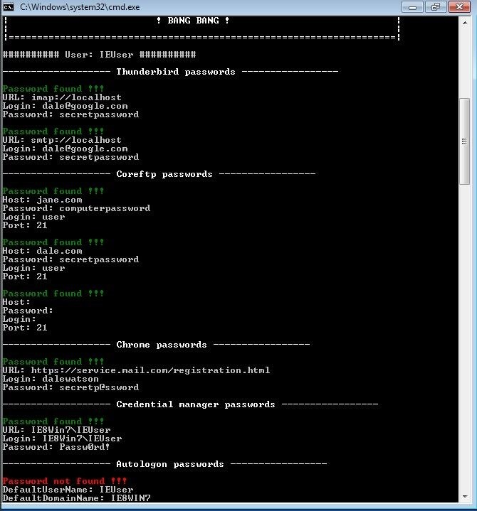 How to Extract Windows Usernames, Passwords, Wi-Fi Keys & Other User Credentials with LaZagne