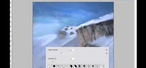 Draw and paint a manga snowy mountain in Photoshop
