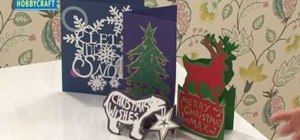 Craft professional-looking Christmas papercut cards