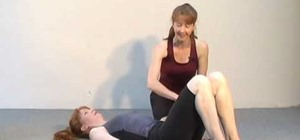 Do the hip rolls with heel lift pilates exercise