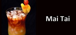 Make a strong Mai Tai cocktail