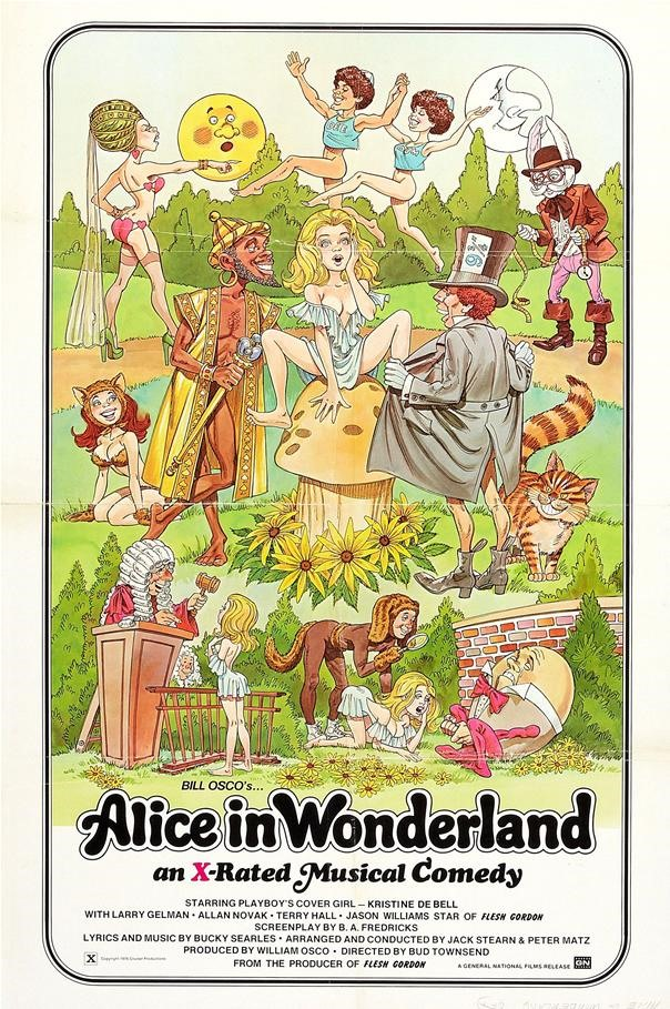 With Alice in wonderland adult musical comedy