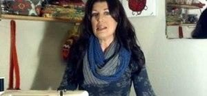 Sew an easy infinity scarf (wraparound scarf)