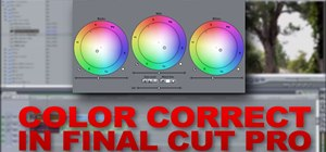 Use 3 way color correction in Final Cut Pro