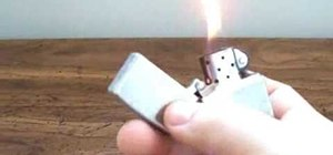"""Perform the """"Flick Spin Flick"""" Zippo lighter trick"""