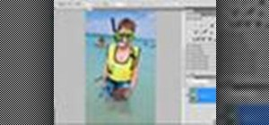 Crop an image with Adobe Photoshop CS4