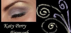 "Create Katy Perry's graphic makeup look from ""Firework"""