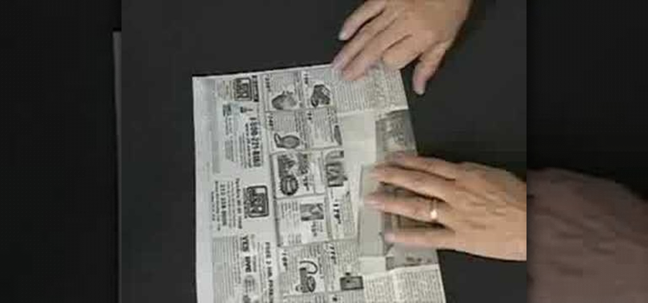 How To Make A Paper Box Using Newspaper Papercraft WonderHowTo