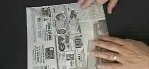 Make a paper box using newspaper