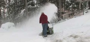 Use a John Deere snowblower