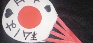 Make a Japanese flag fan