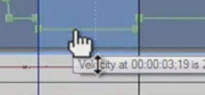 Create and apply velocity envelopes in Sony Vegas