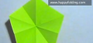 Cut a pentagon from a square piece of paper