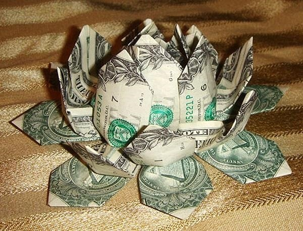 Money origami flower edition 10 different ways to fold a dollar in asian religions deities are often seated on the flowers in works of art the lotus is also one of the more popular origami creations due to both its mightylinksfo