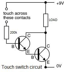 How To Make A Simple TouchTriggered Transistor Relay Fear Of - Relay Circuit With Transistor