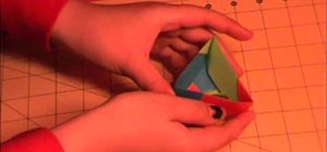 Fold a triangle origami box
