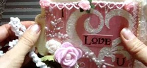"Craft a floral ""I Love You"" Valentine's Day mini album"