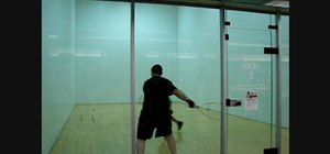 Hit shots from the corner in raquetball