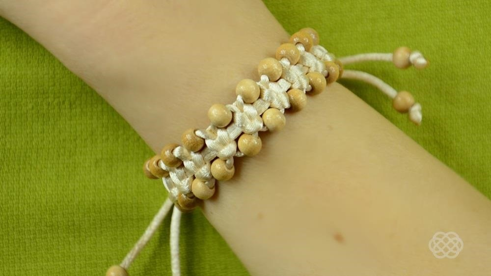 DIY Arm Candy / Square Knot Beaded Stackable Bracelet