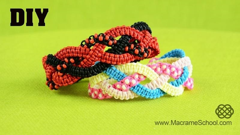 Braided Square Knot Bracelet Tutorial