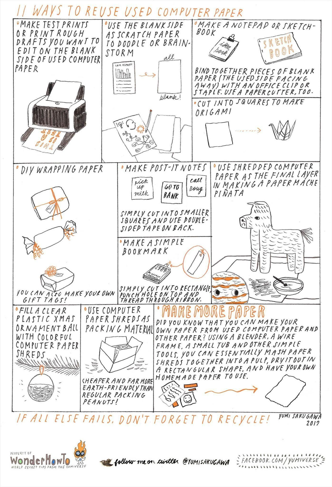 11 Ways to Reuse Used Computer Paper