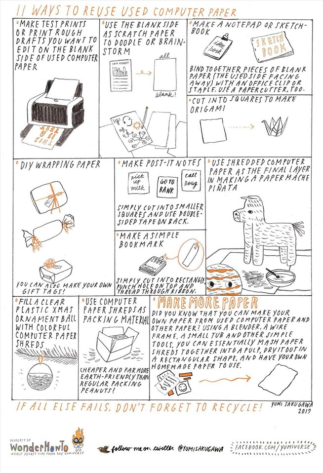 How to 5 cool diy projects for reusing your old computer keyboards - 11 Ways To Reuse Used Computer Paper 171 The Secret Yumiverse