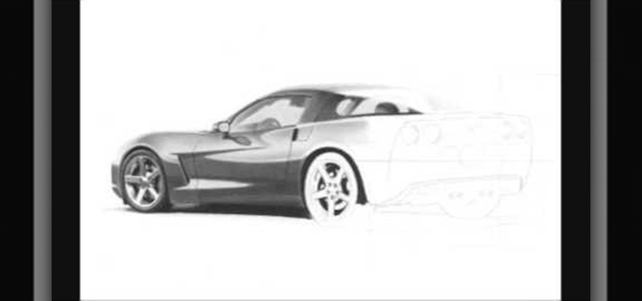 How To Draw A Realistic Corvette Sports Car 171 Drawing