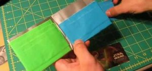 Make a flaming duct tape wallet with hidden pockets