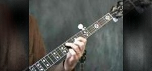 Play closed position chords on the banjo