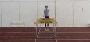 Perform hurdle rebound jumps