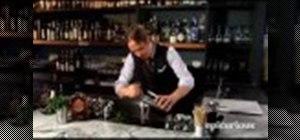 Mix a classic, Kentucky mint julep cocktail