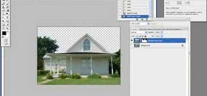 Photoshop a regular picture of a house into a gothic haunted house