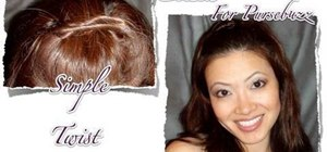 Do a quick 3 minute heatless summer twist hairstyle