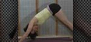 Doa yoga downward dog pose with pushup variations