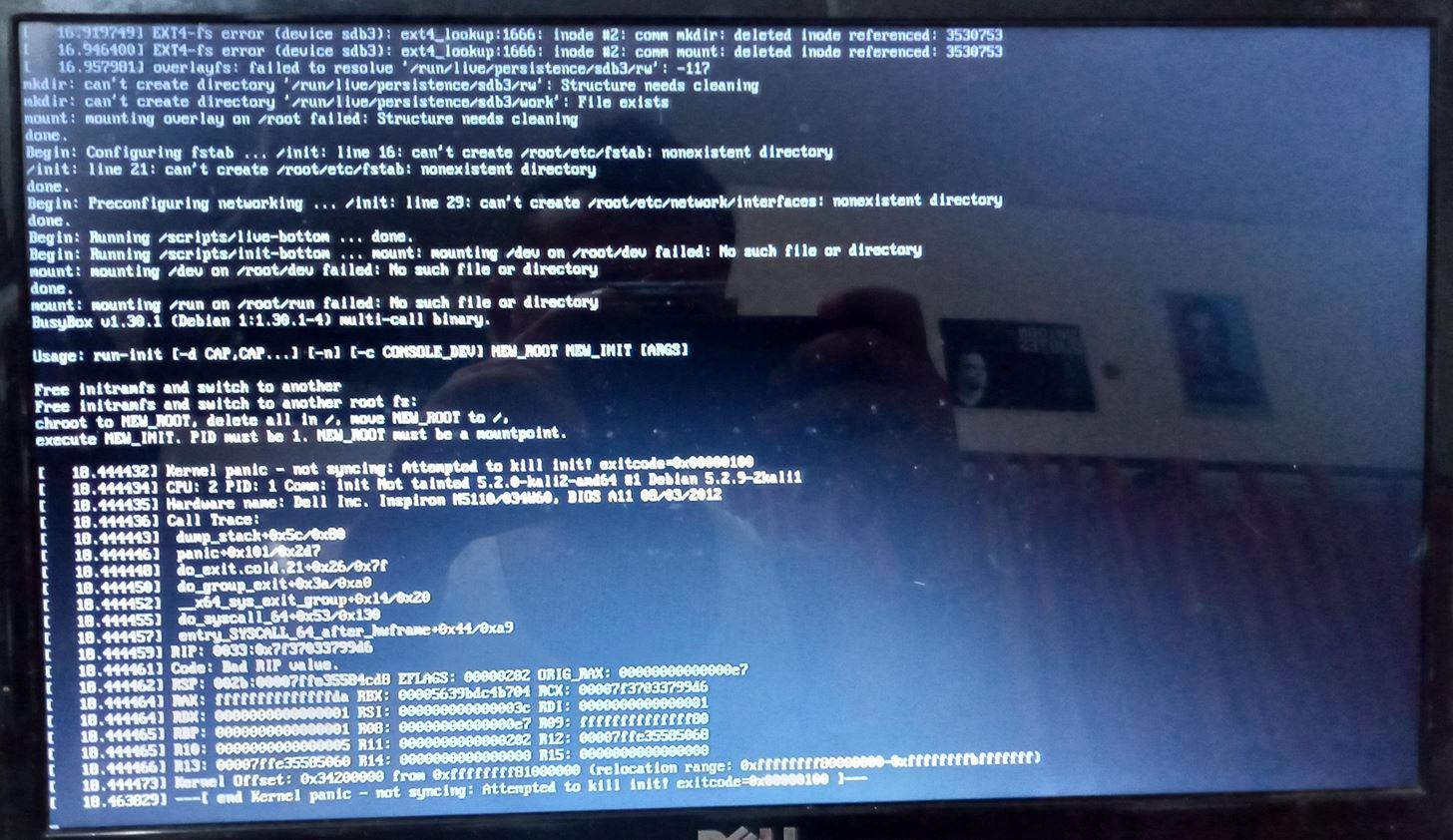 Kali Linux Persistence Error: No Solution on Internet