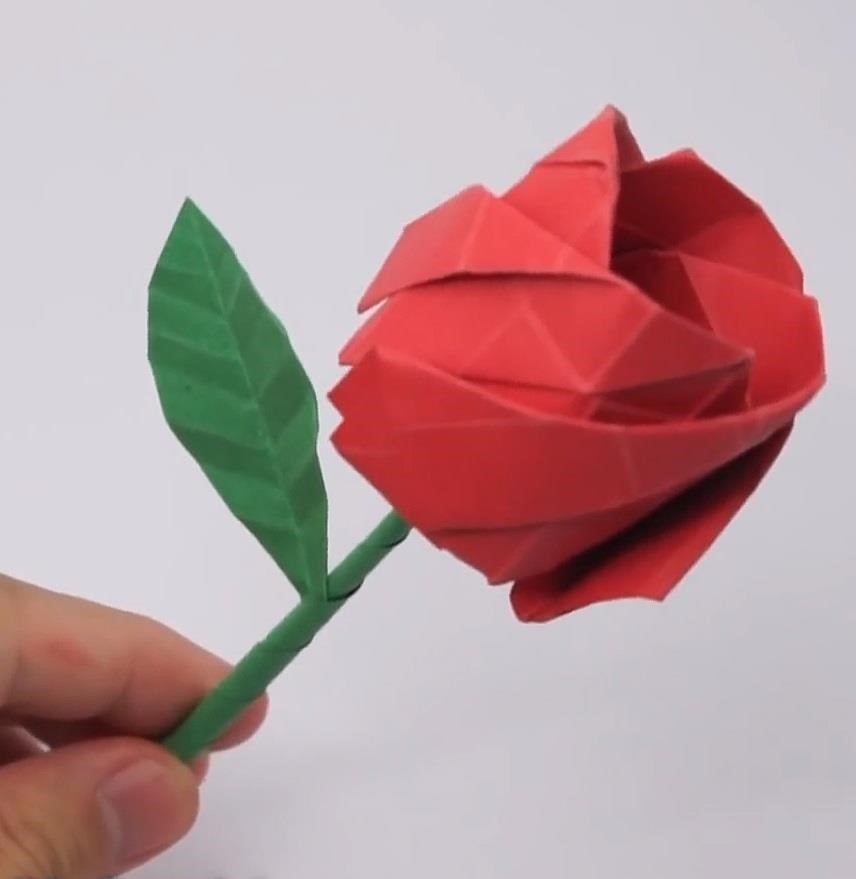 One-Piece Origami Magic Rose Cube (no music) - YouTube | Origami ... | 879x856