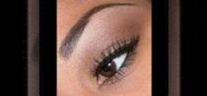 Apply simple brown eye makeup