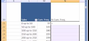 Create a cumulative frequency distribution in MS Excel