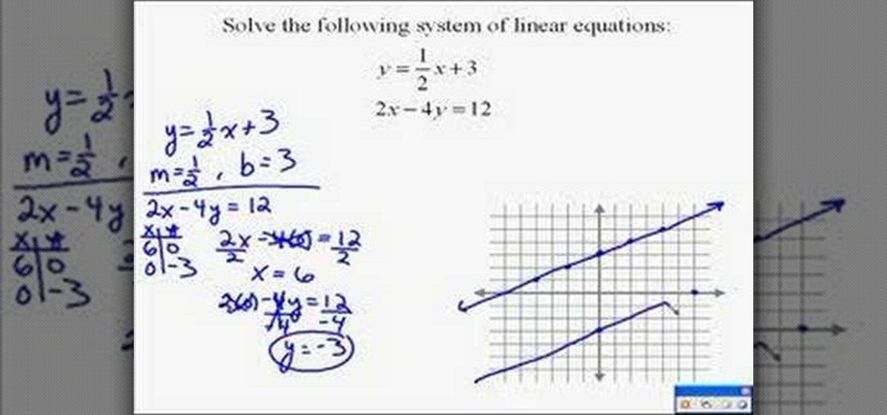 how to solve two linear equations