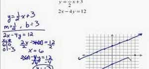 Solve a set of two linear equations by graphing
