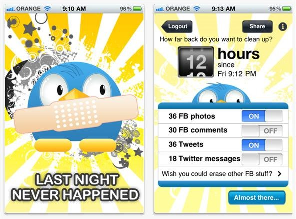 The Morning After App: A Quick Fix for Drunken Social Media Stupidness