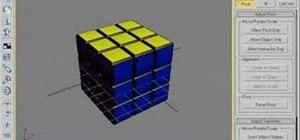 Animate a Rubik's Cube in 3D Studio MAX