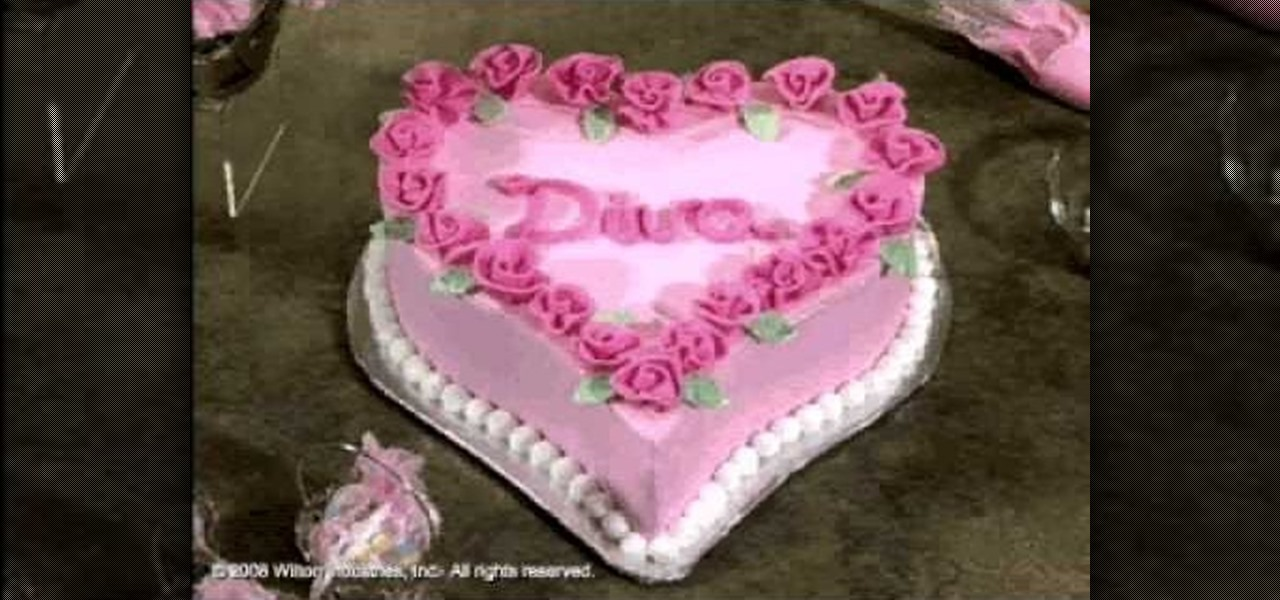 Cake Decorating How To Make Roses : How to Make and decorate a diva heart cake with roses ...