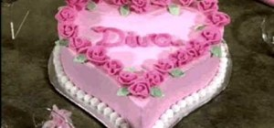 Make and decorate a diva heart cake with roses