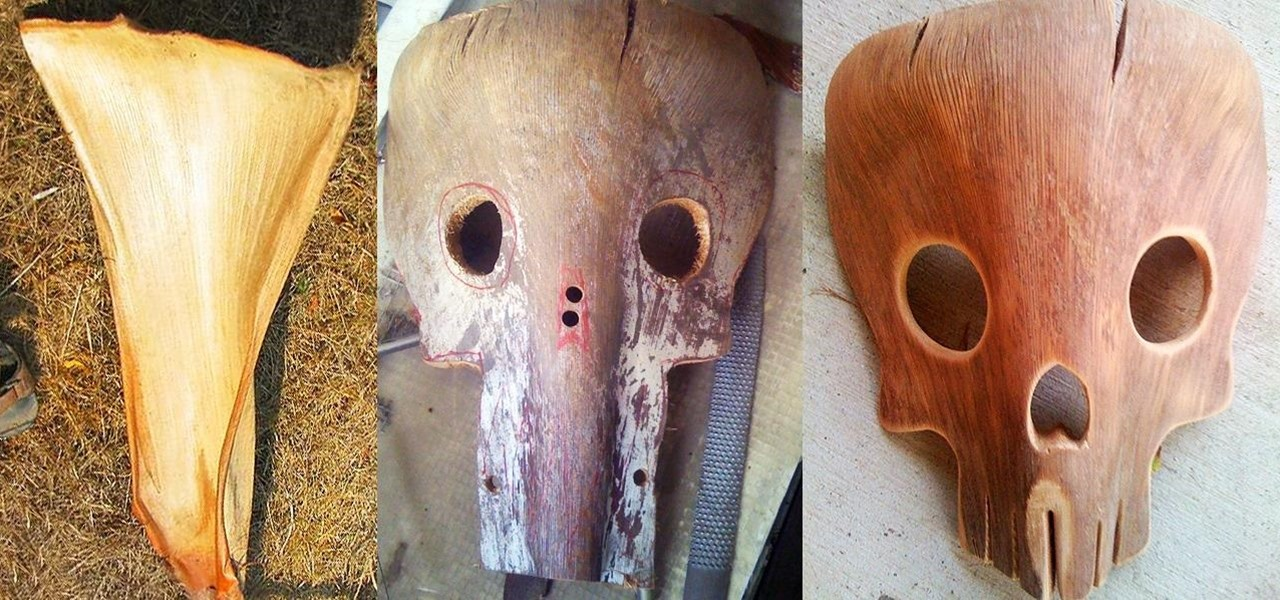 Yard Waste = Free Halloween Costume: How to Make Creepy Masks from Fallen Palm Tree Fronds