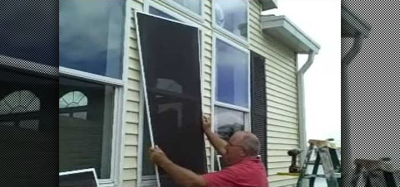 how to install solar window screens construction repair. Black Bedroom Furniture Sets. Home Design Ideas