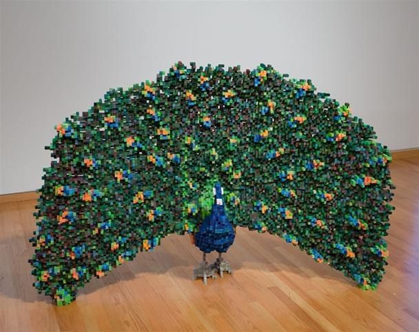 If the world were made of pixels sculpture for Cool things to make out of recycled materials