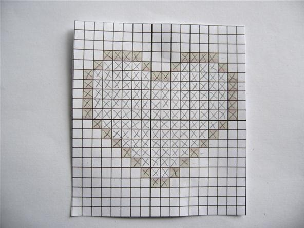 Drawing Knitting Pattern : Easy graph paper drawing
