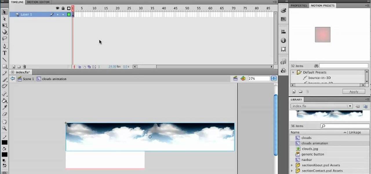 how to create simple animation loops in adobe flash professional cs5 rh adobe flash wonderhowto com Adobe Flash CS3 Adobe Flash CS5 Logo